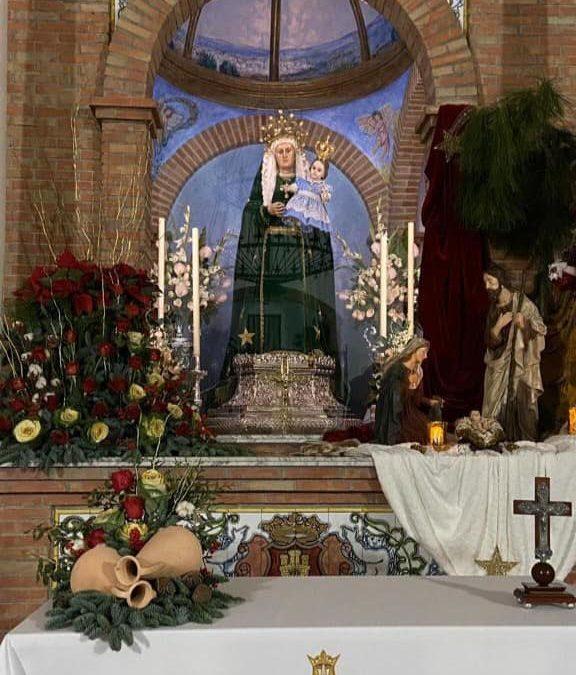 Santa Ana y la Virgen Niña están de nuevo en su ermita desde anoche