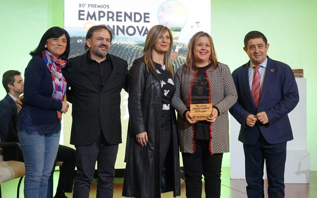 La Sociedad Cooperativa Art Diversia de Torredelcampo recibe un reconocimiento en los XX Premios Emprende e Innova en Desarrollo Sostenible