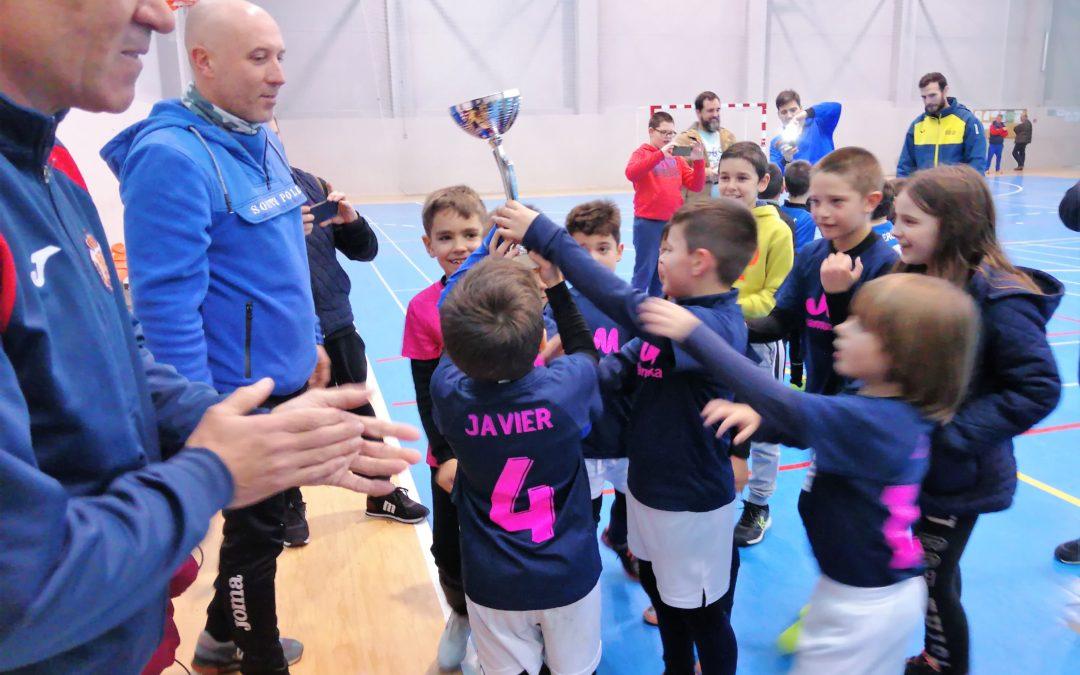 Doscientos niños participan en el torneo de fútbol sala de las Escuelas Deportivas Municipales