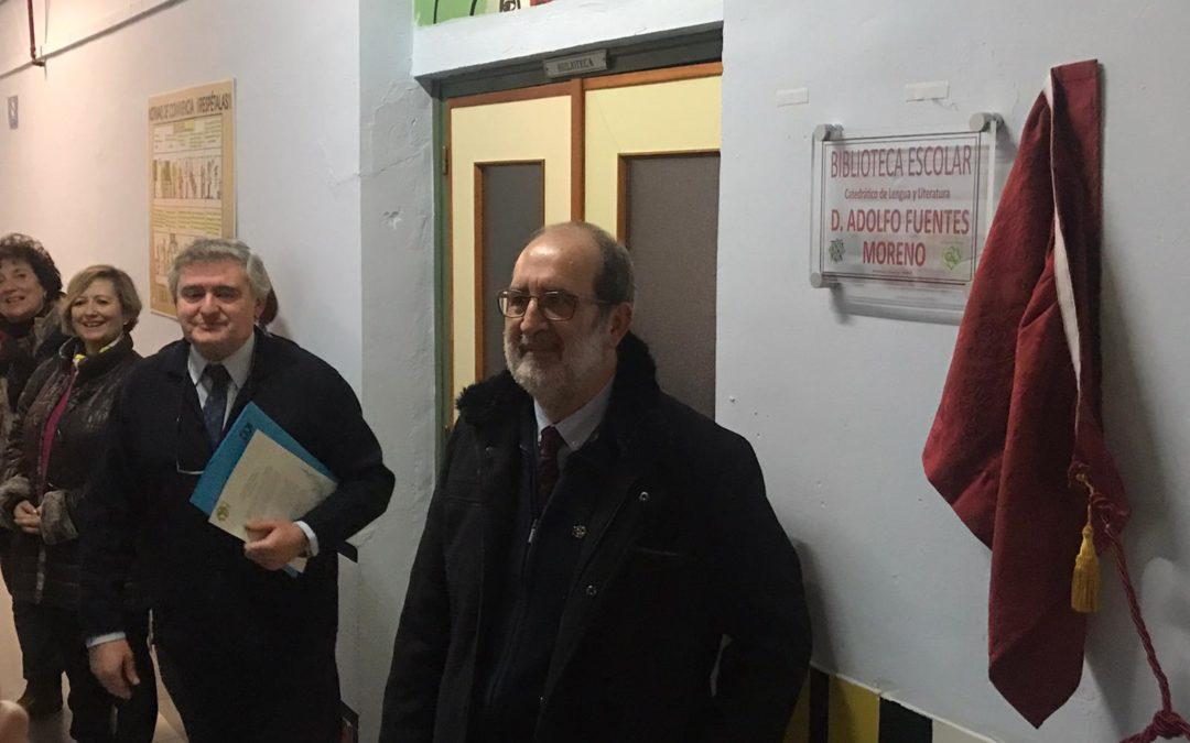 El IES Ciudad de Arjona renombra su biblioteca en honor de Adolfo Fuentes