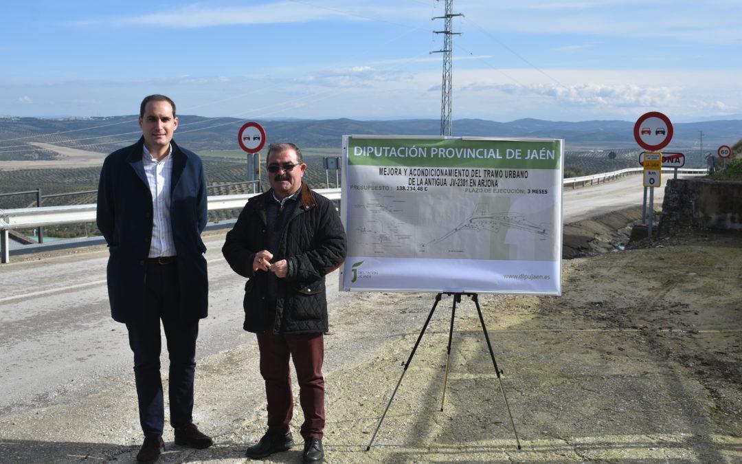 A punto de comenzar las obras en la carretera que une Arjona con Lahiguera