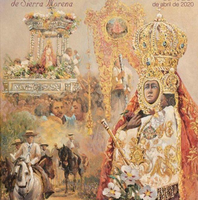 """""""El primer cohete"""" de la Romería de la Virgen de la Cabeza resuena en la presentación del cartel anunciador de este año"""