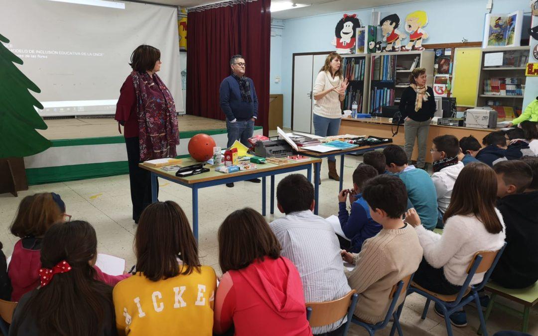 """El Colegio San Isidoro trabaja en el proyecto de la Fundación ONCE """"Bandera por la inclusión"""""""