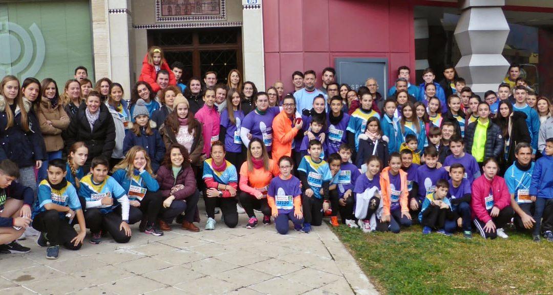 Jóvenes corredores alcaudetenses en la carrera de San Antón