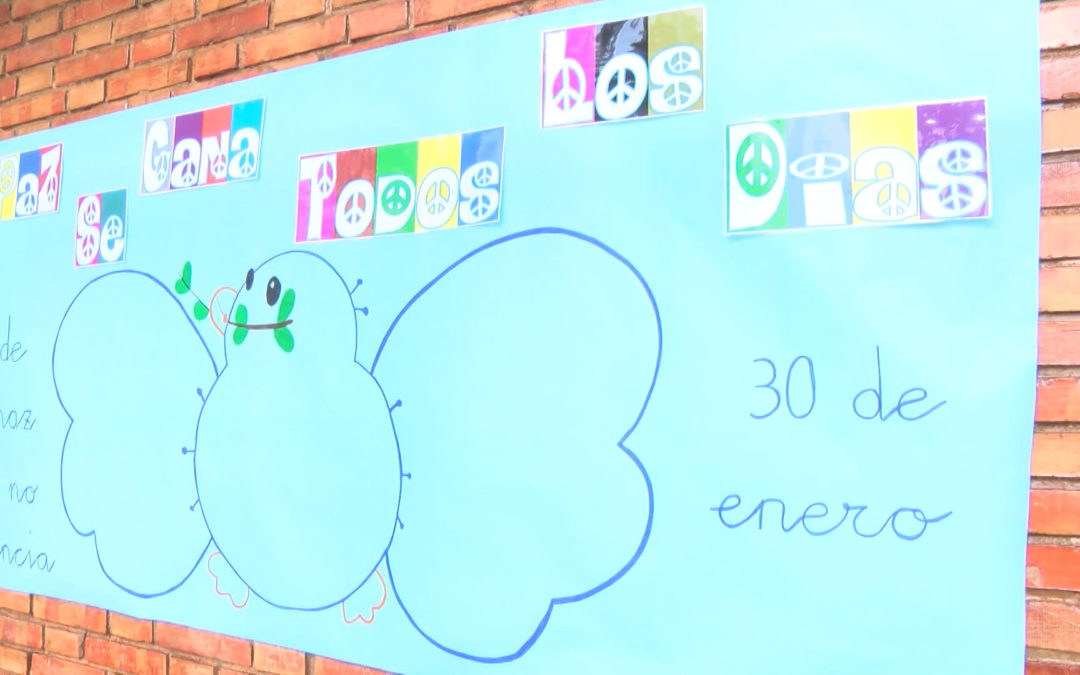 El colegio Príncipe Felipe trabaja la paz y la convivencia de cara a la conmemoración del 30 de enero