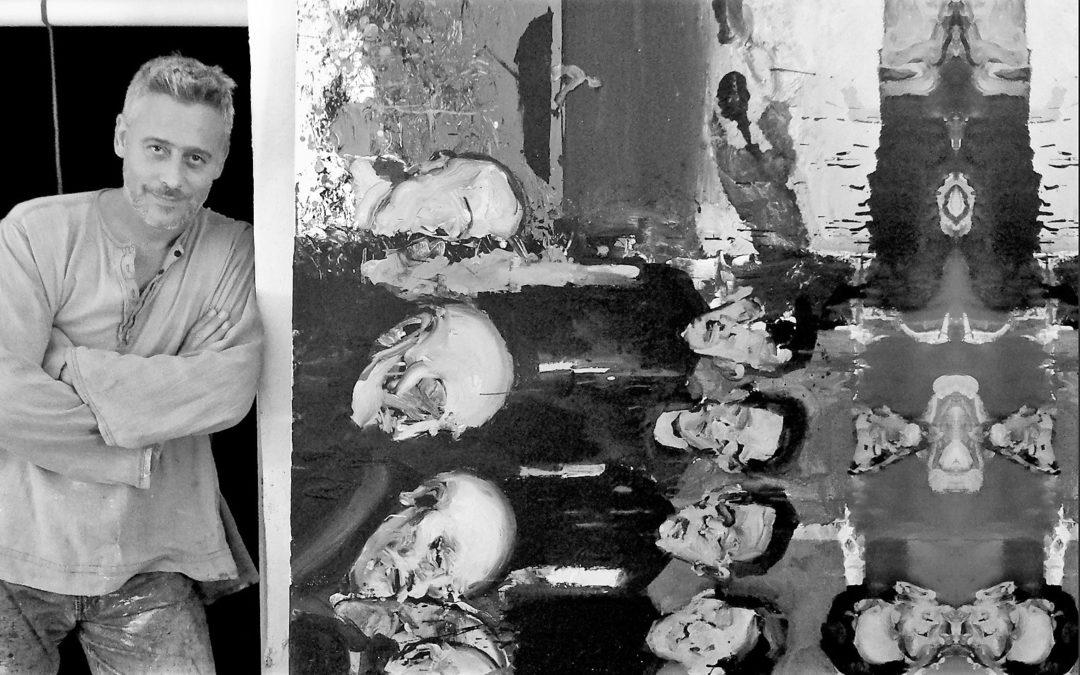 El artista linarense Maldomado cuelga sus obras con envoltorio poético en Madrid