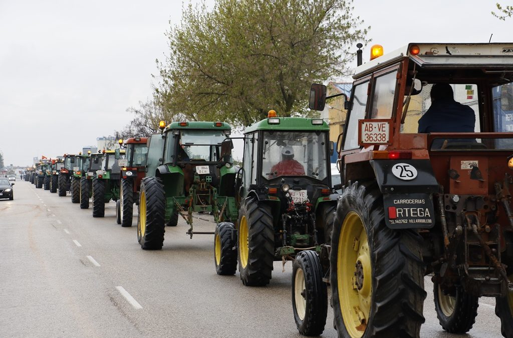 Apoyo institucional a las protestas de los agricultores para exigir un precio justo del AOVE