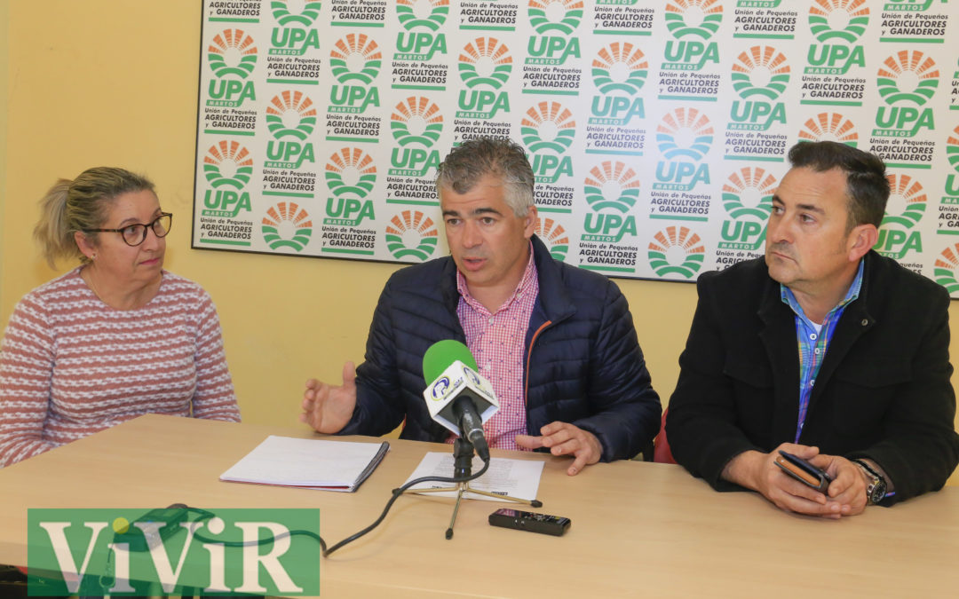 UPA-Martos llama a la participación en la concentración del próximo lunes