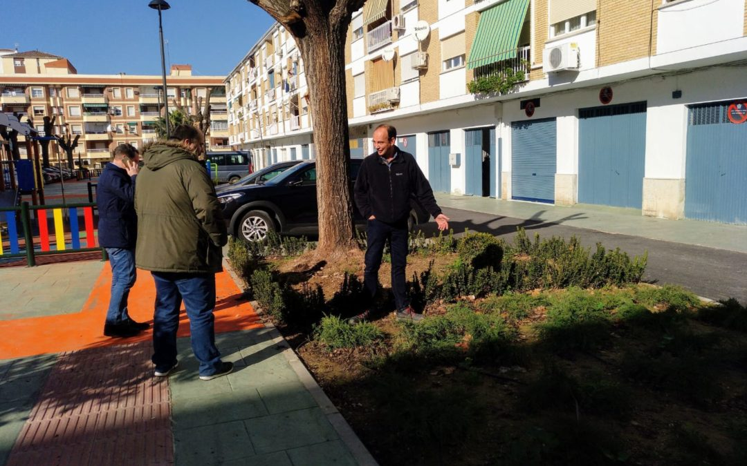 Aumentan las zonas verdes de la plaza Antonino