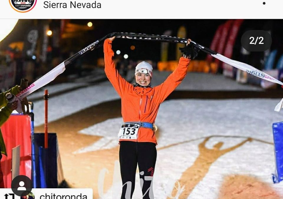 Silvia Lara vuelve a ganar el Snow Running de Sierra Nevada