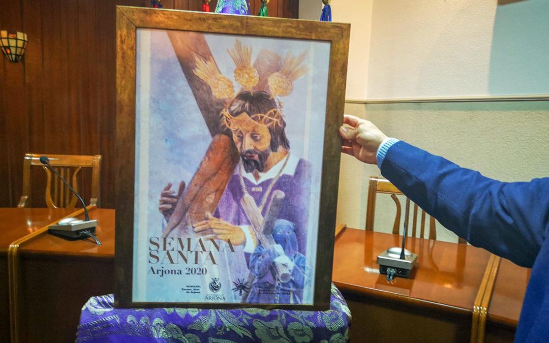 Andrea Rivas elabora el cartel de la Semana Santa de Arjona 2020