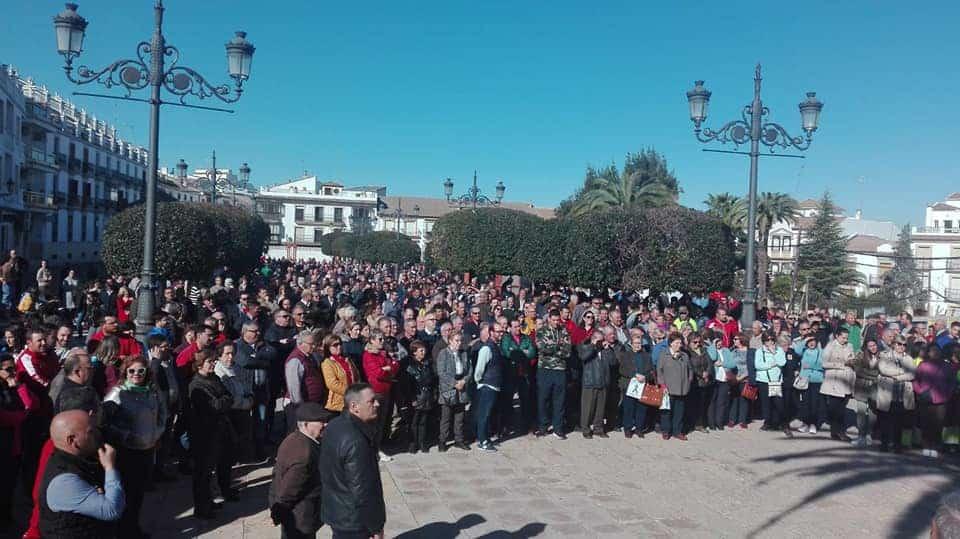 Apoyo masivo en Arjona a las protestas de los agricultores por un precio justo del aceite