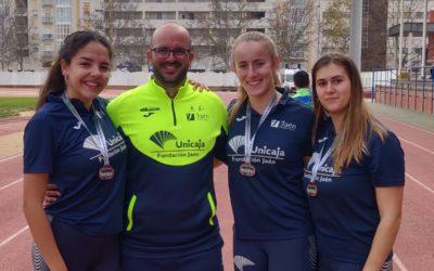 El Unicaja Paraíso Interior brilla en el Campeonato de España de pista cubierta Sub-23