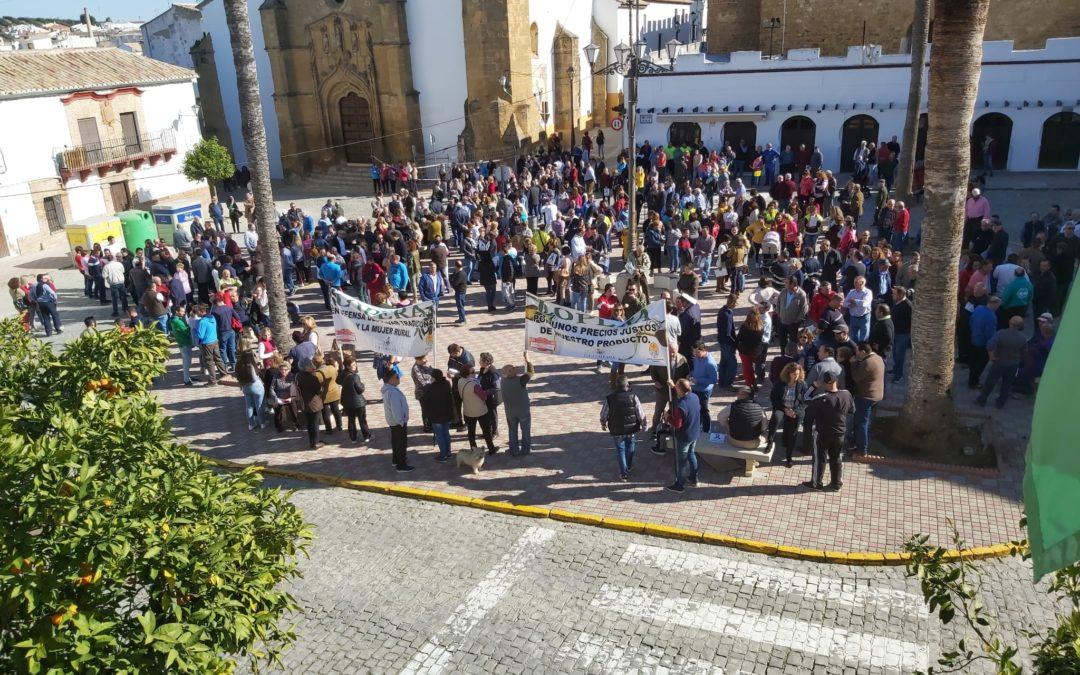 Lopera se suma a las protestas del olivar