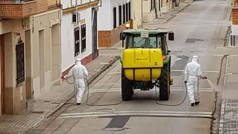 Castillo de Locubín retomará el lunes la desinfección de calles