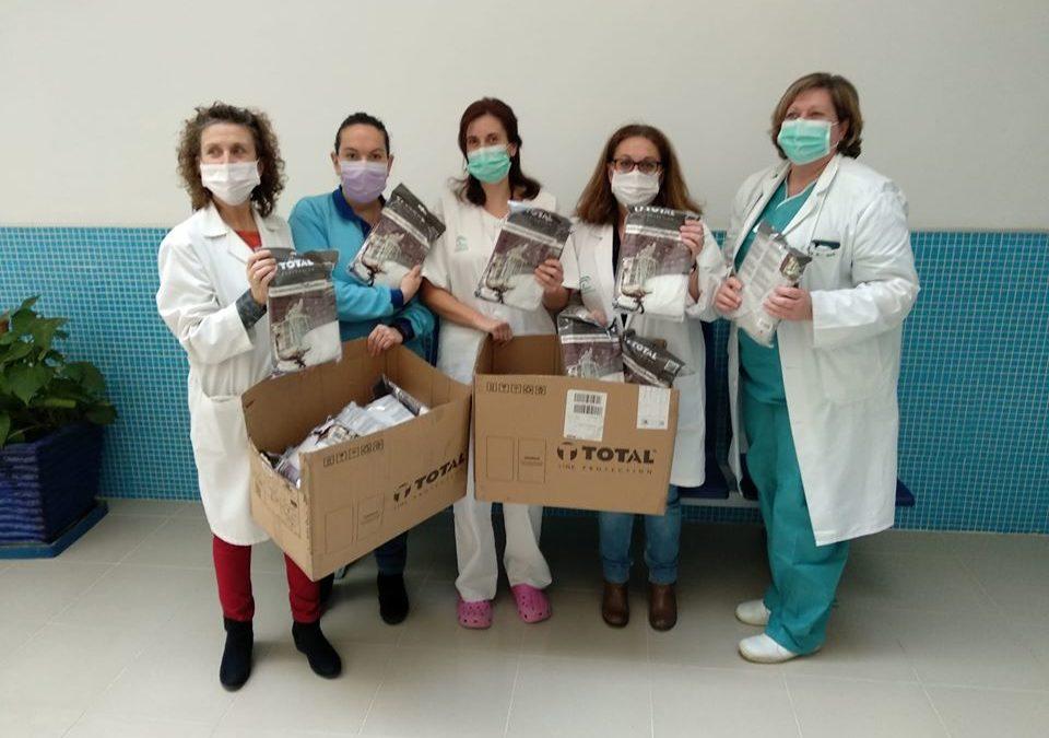 Primeros EPIs solidarios para el centro de salud de Alcaudete
