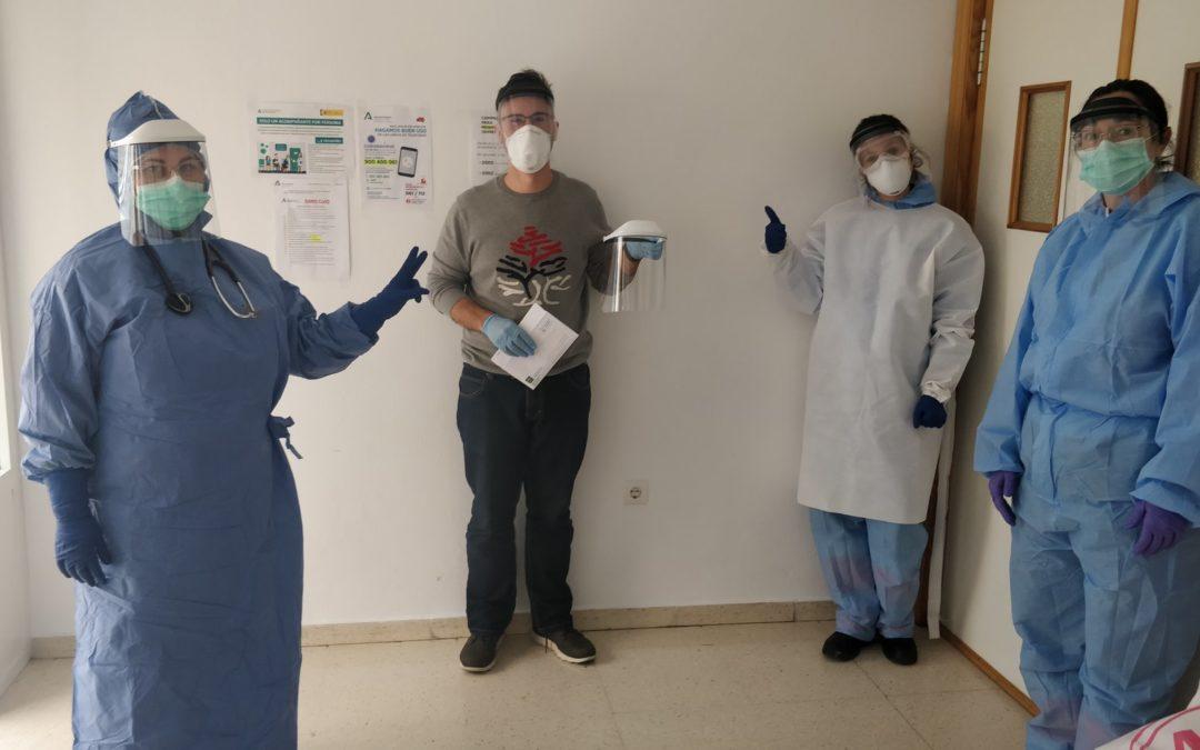 Primeros EPIs solidarios para el Centro de Salud de Castillo de Locubín