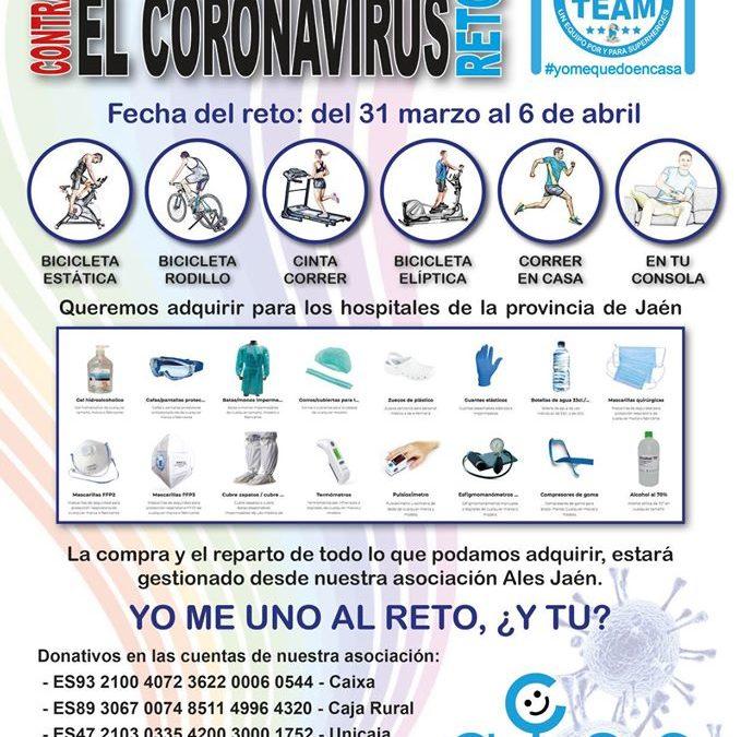Kilómetros contra el coronavirus desde casa con el Reto ALES