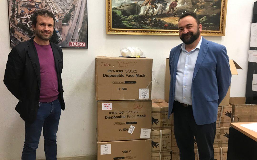 La Diputación entrega 10.000 mascarillas al Ayuntamiento