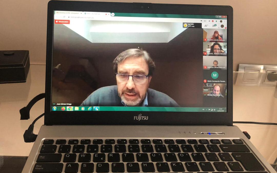 Primera reunión telemática del Consejo de Gobierno de la Universidad de Jaén