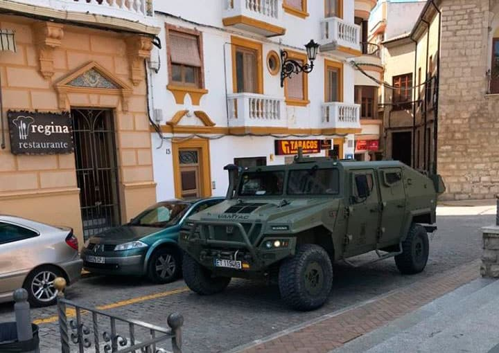 Militares se despliegan hoy de nuevo en Torredonjimeno para tareas de control y asistencia