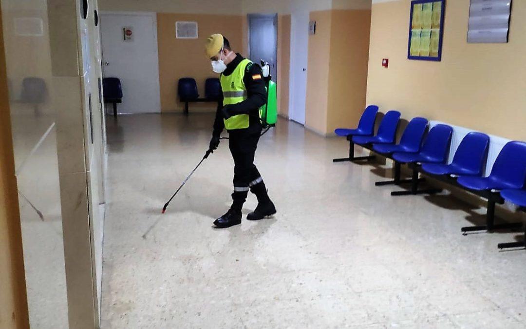 La UME regresa a Linares para realizar tareas de desinfección