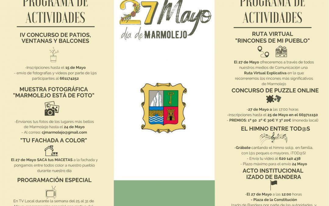 Batería de actividades para celebrar el Día de Marmolejo