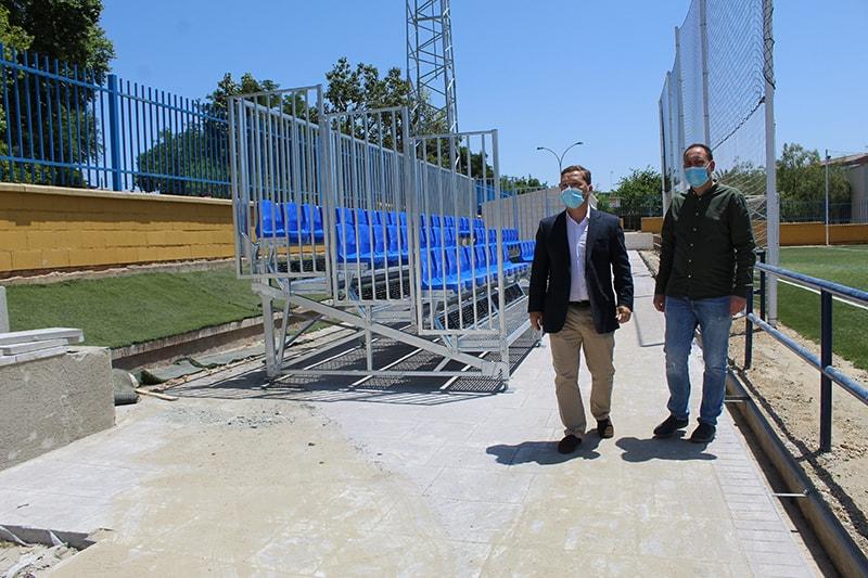 Obras en los campos José Luis Mezquita y Puerta de Madrid a pesar del Estado de Alarma