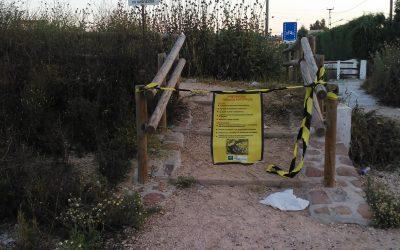 Arreglos en la Puerta Verde entre Andújar y Marmolejo, espacio muy elegido para los paseos en estado de alarma