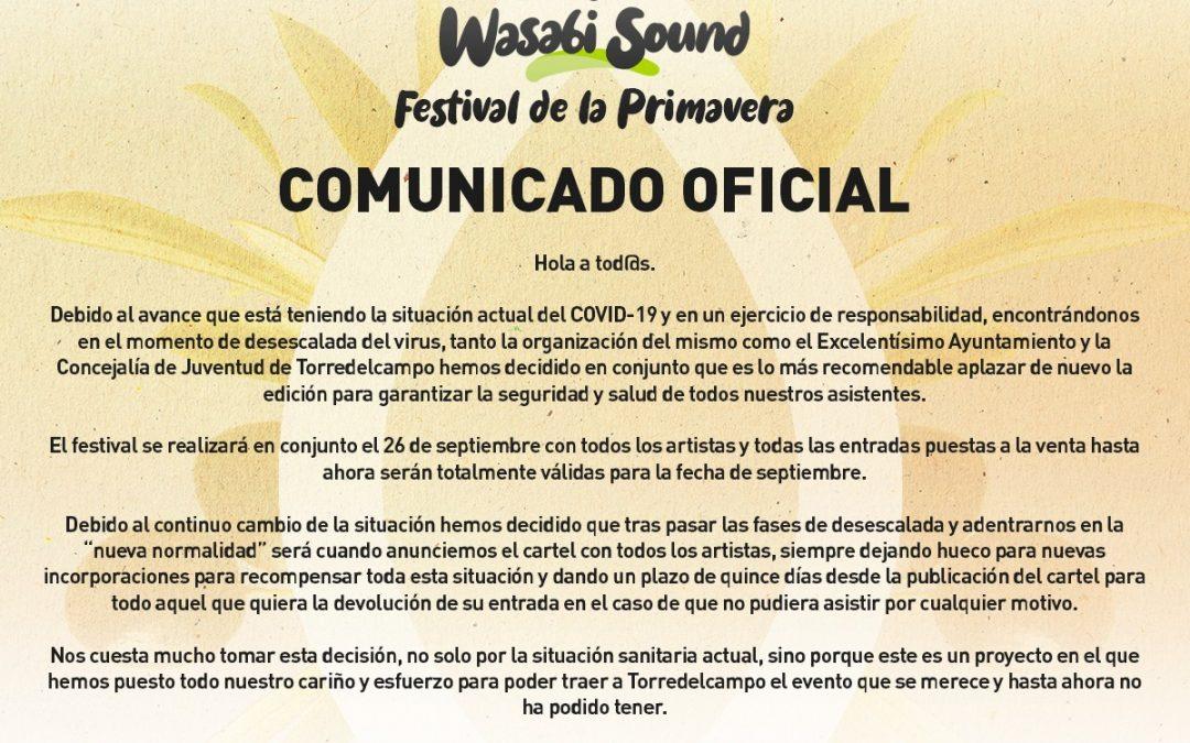 El 'Wasabi Sound' aplazado a septiembre