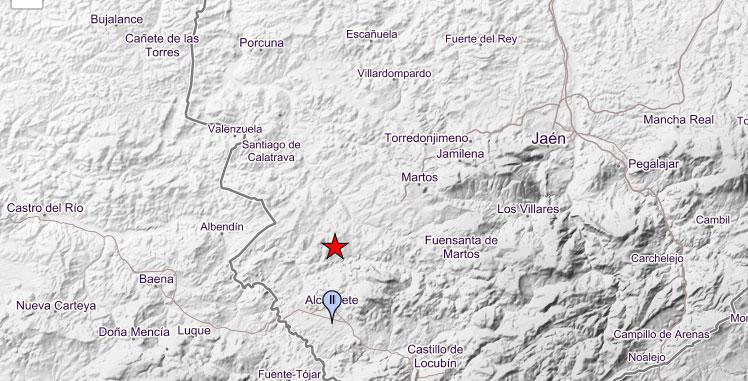 El Instituto Geográfico Nacional registra un microterremoto en Alcaudete este fin de semana