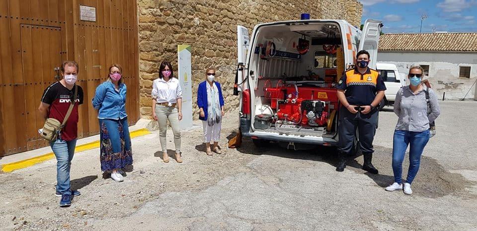 El Ayuntamiento de Lopera adquiere un nuevo equipo de extinción de incendios por valor de 7.253 euros