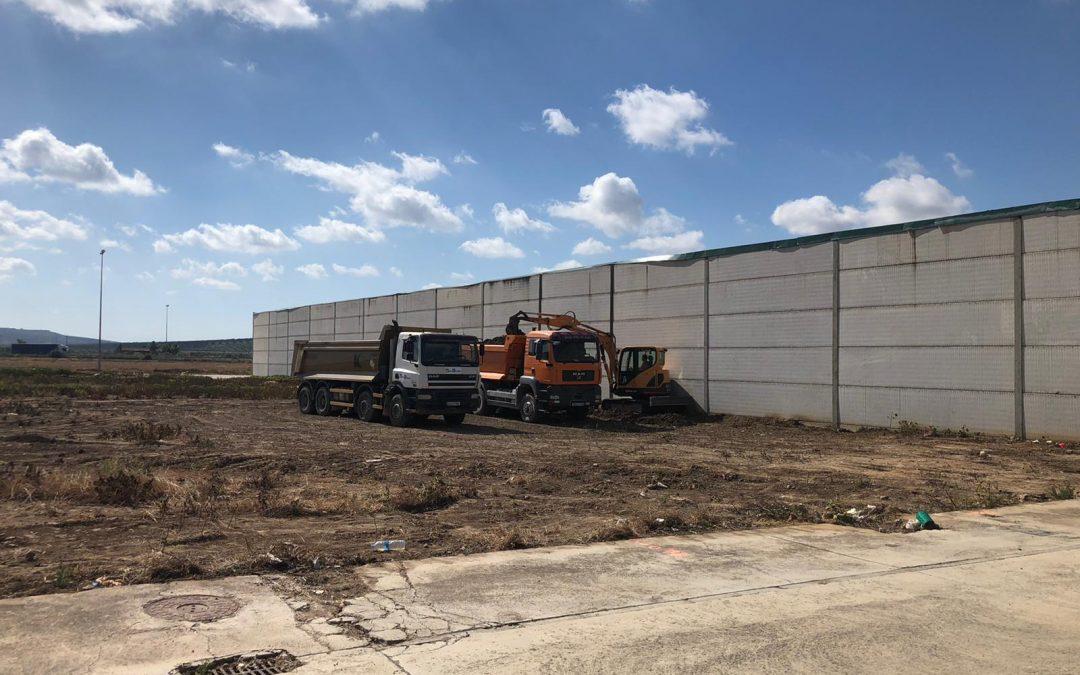 Comienzan las obras de construcción del Punto de Acopio de Residuos de la Construcción y Demolición de Marmolejo