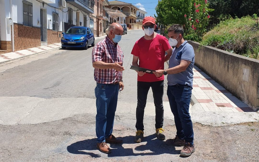 Obras de acondicionamiento en la calle La Fuente de Ventas del Carrizal
