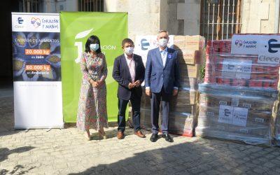 Diputación recibe 20 toneladas de alimentos donados por los empleados de Clece en Jaén