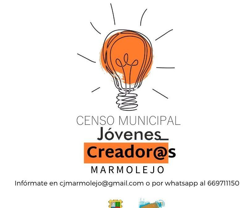 El Ayuntamiento de Marmolejo pone en marcha el Censo Municipal de Jóvenes Creadores