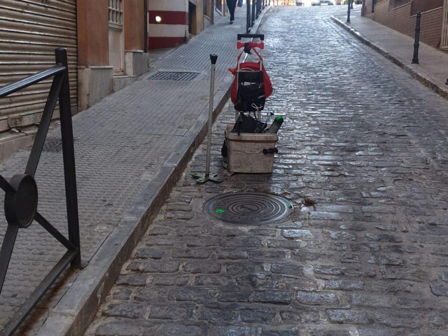 Desinfección en los barrios de Belén y San Roque
