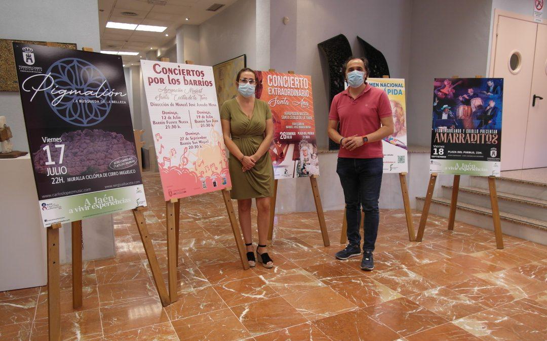 La agenda cultural de verano de Torredelcampo trae seis conciertos, dos de 'A Jaén, a vivir experiencias' y el IV Certamen de Pintura Rápida, Alfonso Parras