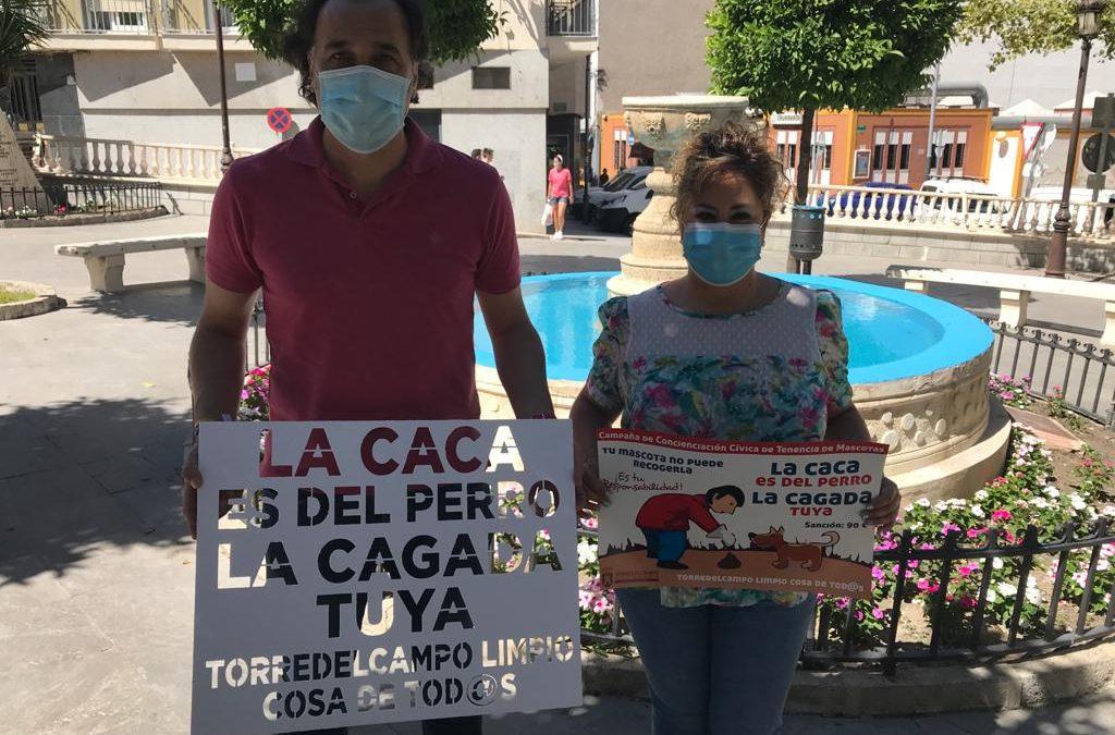 'La caca es del perro; la cagada, tuya', slogan de la nueva campaña cívica de mascotas en Torredelcampo