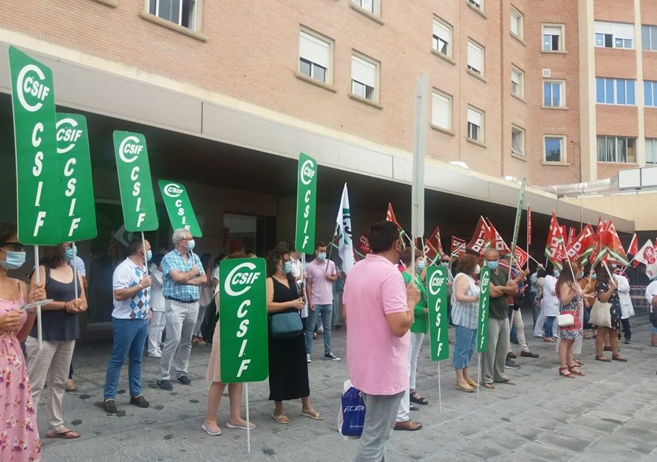 Los sindicatos llevan mañana sus movilizaciones a las puertas del hospital de Linares
