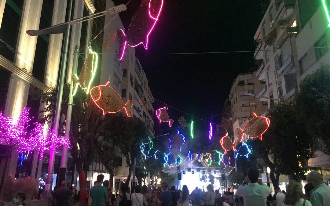 'Jaén Puerto de Luz' se entrena con todas las medidas de seguridad para iluminar y atraer el consumo al centro desde Roldán y Marín