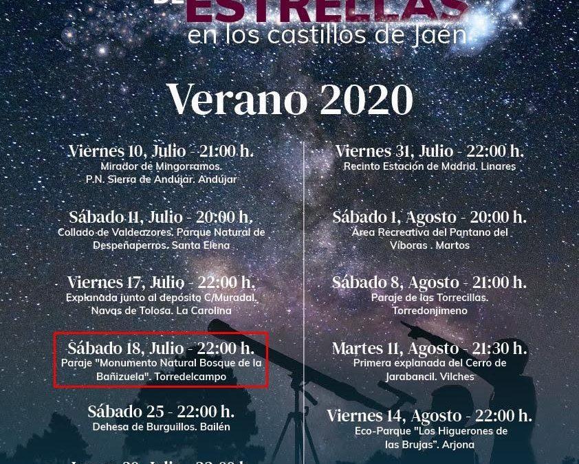 La 'Noche de Estrellas en los castillos de Jaén' llega a Torredelcampo el próximo 18 de julio