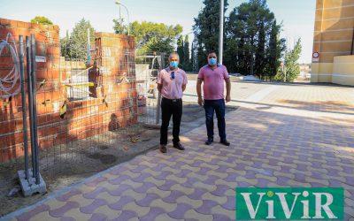 Obras de mejora en el Recinto Ferial y el entorno del Parque