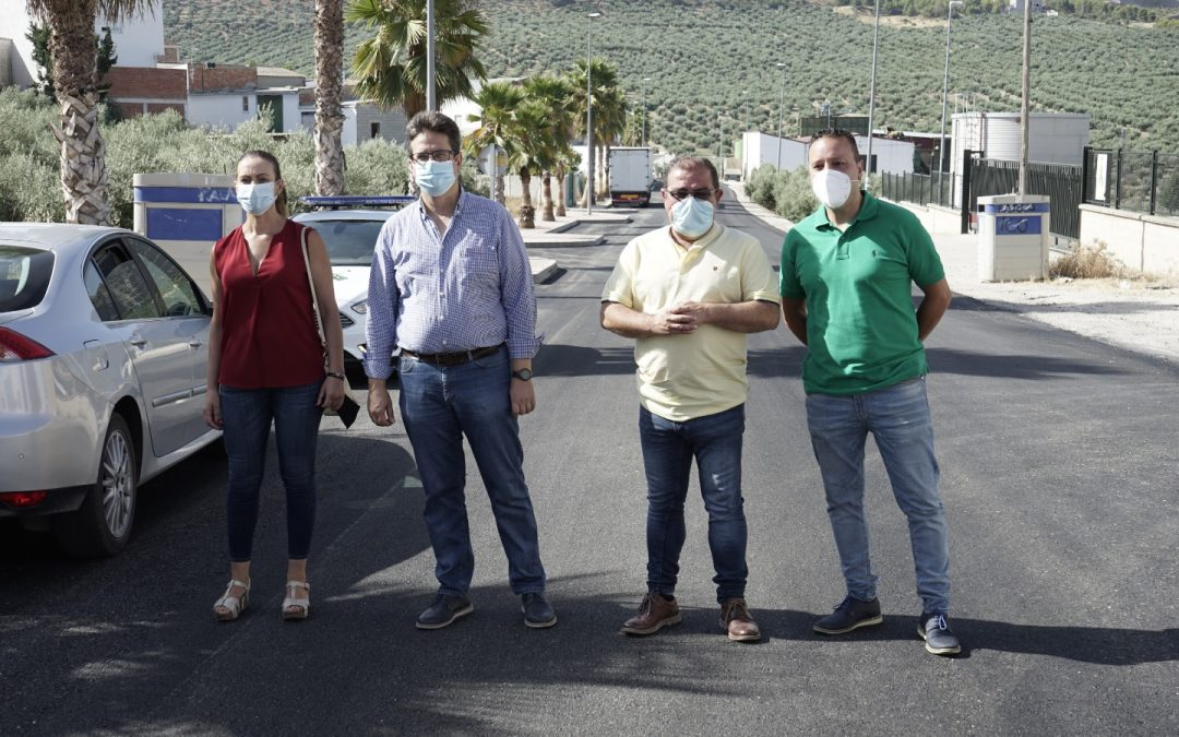 La Diputación invierte 36.000 euros en las obras de la Avenida de Torredonjimeno