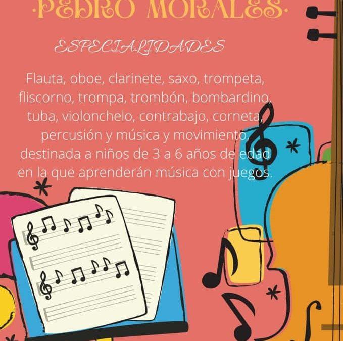 """La Escuela Musical """"Pedro Morales"""" abre el plazo de inscripción"""