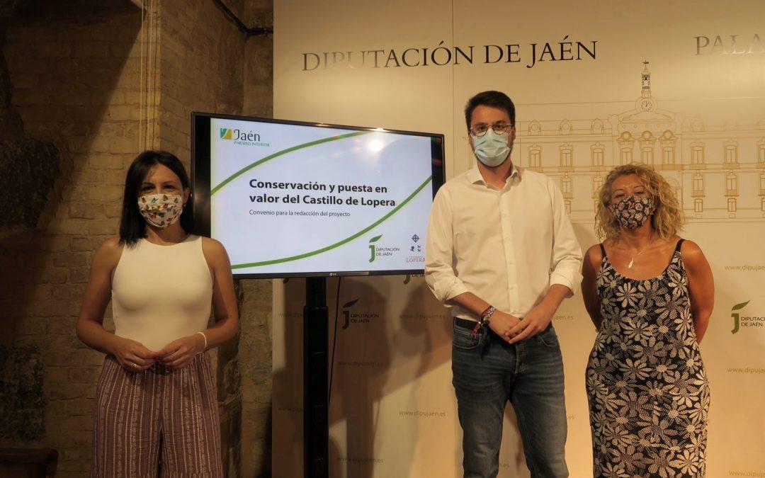 Diputación financiará la redacción del proyecto de actuaciones para la recuperación y puesta en valor del Castillo de Lopera