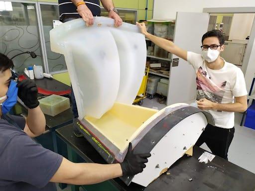 Andaltec desarrolla prototipos de moldes de silicona de gran tamaño