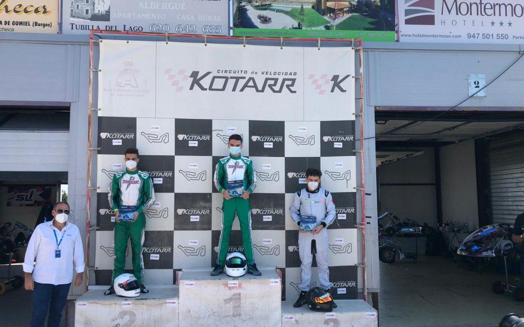 Doble triunfo castillero en el Campeonato de Madrid de Karting