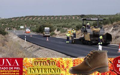 El delegado de Fomento visita las obras de mejora de la seguridad vial en la A-306