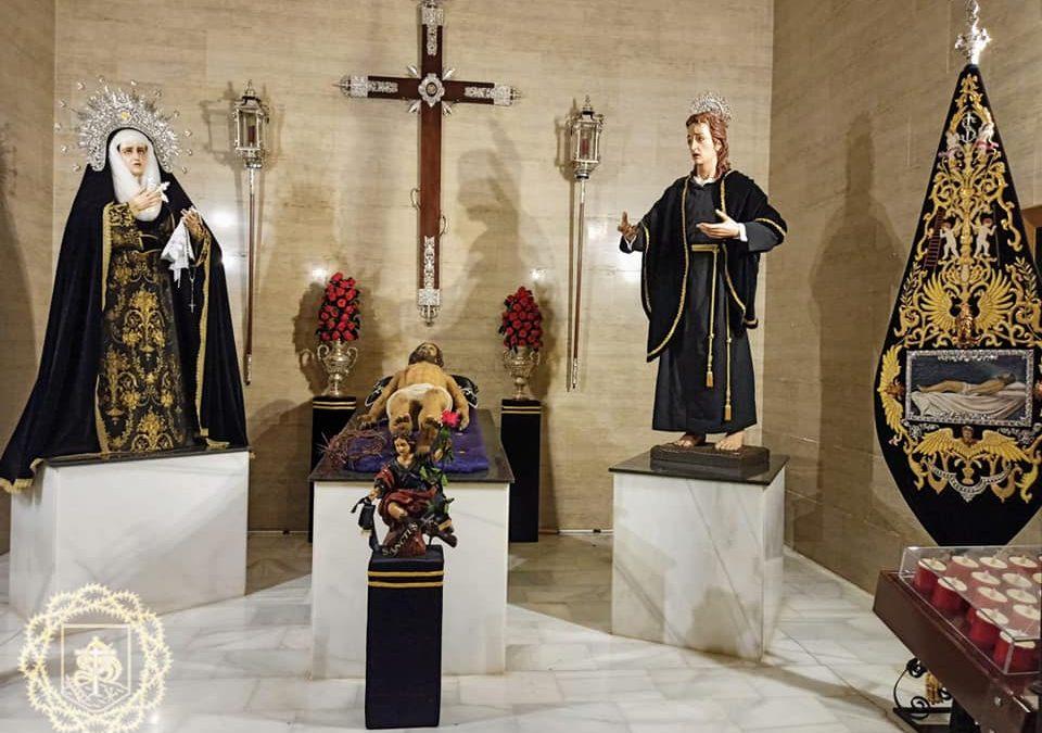El Santuario de la Virgen de la Villa de Martos se viste de luto